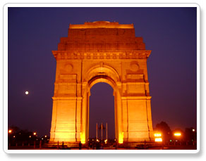 India Gate view during delhi vacations